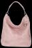 Vittoria Gotti Uniwersalna Torebka Skórzana w modny motyw żółwia Pudrowy Róż