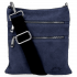 Uniwersalne Torebki Skórzane Listonoszki firmy Vittoria Gotti Granat