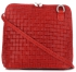 Mała Włoska Torebka Skórzana Listonoszka firmy Genuine Leather Czerwona