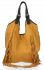 Modne Torebki Skórzane Shopper Bag z Frędzlami firmy Vittoria Gotti Jasno Ruda