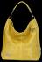 Vittoria Gotti Uniwersalna Torebka Skórzana w modny motyw żółwia Żółta