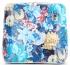 Vittoria Gotti Firmowa Listonoszka Skórzana Made in Italy we wzór kwiatów Granatowa