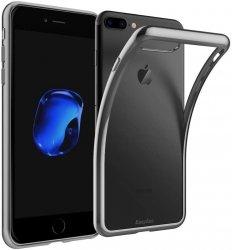 EASYACC ETUI ELEGANCE PLATE iPHONE 7+ 8+ +SZKŁO (grey)