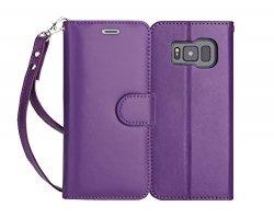 FYY Samsung Galaxy S8+ PLUS - Etui book case ze smyczką (fiolet)