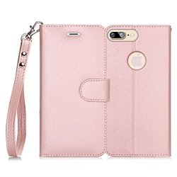 FYY Etui book case ze smyczką - iPhone 7+/8+ (5.5) (pink)