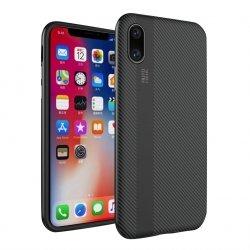 ETUI CARBON FIBER CASE HYBRID - iPhone X / XS (smooth grey)