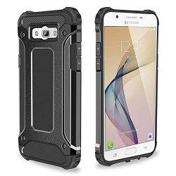 Rugged Armor Dual Layer Hard Shell Etui Samsung Galaxy J7 2016 J710 (black) + szkło hartowane