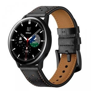 TECH-PROTECT LEATHER SAMSUNG GALAXY WATCH 4 40 / 42 / 44 / 46 MM BLACK