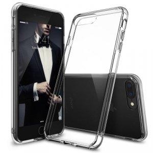 Ringke Fusion etui pokrowiec z żelową ramką iPhone 8 Plus / 7 Plus przezroczysty (FSAP0005-RPKG)