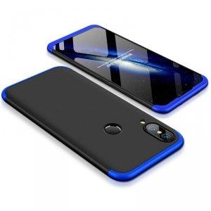 GKK 360 Protection Case etui na całą obudowę przód + tył Huawei P20 Lite czarno-niebieski