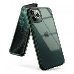 Ringke Fusion etui pokrowiec z żelową ramką iPhone 11 Pro Max zielony (FSAP0049)