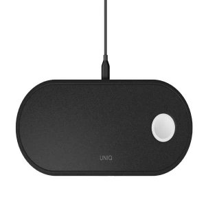 UNIQ Ład. indukcyjna Aereo 3w1 10W Fast charge czarny/charcoal black (LITHOS Collective)