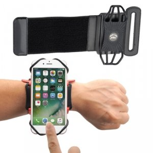 Etui opaska sportowa na nadgarstek armband do biegania na telefon do 6'' cali czarny