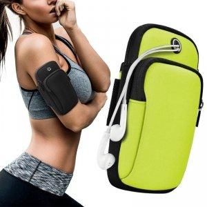 Armband do biegania opaska na ramię sportowe etui na telefon zielony
