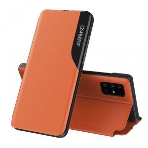 Eco Leather View Case elegancki futerał etui z klapką i funkcją podstawki Huawei P40 pomarańczowy