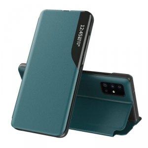 Eco Leather View Case elegancki futerał etui z klapką i funkcją podstawki Huawei P40 Pro zielony