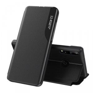Eco Leather View Case elegancki futerał etui z klapką i funkcją podstawki Huawei P40 Lite E czarny