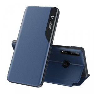 Eco Leather View Case elegancki futerał etui z klapką i funkcją podstawki Huawei P40 Lite E niebieski