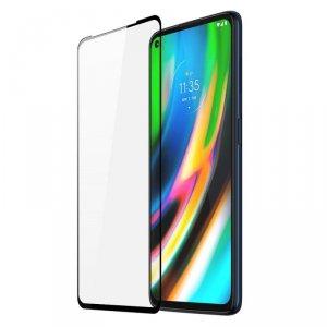 Dux Ducis 10D  Tempered Glass wytrzymałe szkło hartowane 9H na cały ekran z ramką Motorola Moto G9 Plus czarny (case friendly)