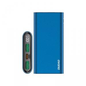 Dudao power bank 10000 mAh Power Delivery 20 W Quick Charge 3.0 2x USB / USB Typ C niebieski (K14H blue)