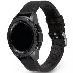 Ringke Leather One Classic skórzana bransoleta opaska pasek do zegarka smartwatch Samsung Galaxy Watch 3 45 mm czarny (COM-B-22-
