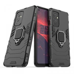 Ring Armor pancerne hybrydowe etui pokrowiec + magnetyczny uchwyt OnePlus 9 czarny