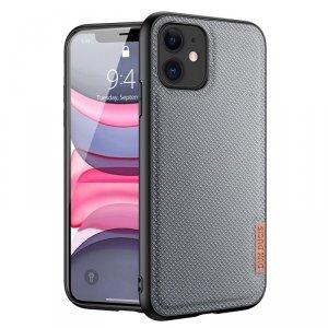 Dux Ducis Fino etui pokrowiec pokryty nylonowym materiałem iPhone 11 szary