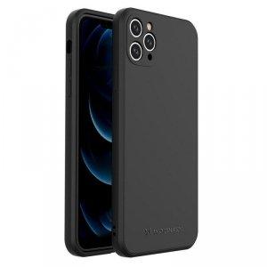Color Case silikonowe elastyczne wytrzymałe etui iPhone 11 Pro Max czarny