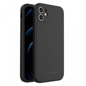 Color Case silikonowe elastyczne wytrzymałe etui iPhone 11 czarny