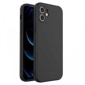 Color Case silikonowe elastyczne wytrzymałe etui iPhone SE 2020 / iPhone 8 / iPhone 7 czarny
