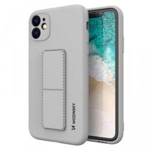 Kickstand Case elastyczne silikonowe etui z podstawką iPhone 11 szary