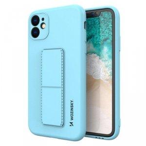Kickstand Case elastyczne silikonowe etui z podstawką iPhone 11 Pro Max jasnoniebieski