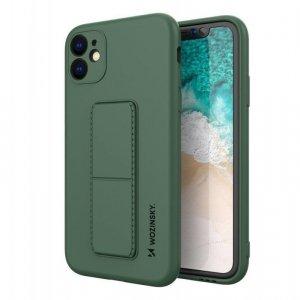 Kickstand Case elastyczne silikonowe etui z podstawką iPhone 11 Pro Max ciemnozielony
