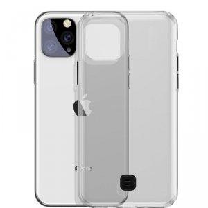 Baseus Transparent Key usztywnione etui z żelową ramką iPhone 11 Pro Max czarny (WIAPIPH65S-QA01)