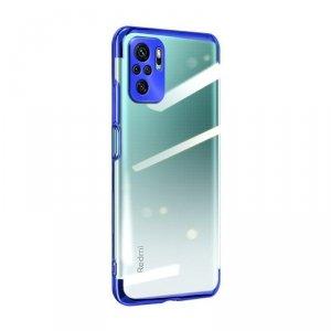 Clear Color case żelowy pokrowiec etui z metaliczną ramką Xiaomi Redmi Note 10 Pro niebieski