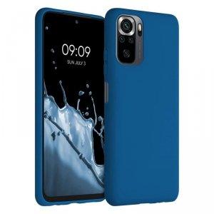Silicone Case elastyczne silikonowe etui pokrowiec Xiaomi Redmi Note 10 Pro ciemnoniebieski