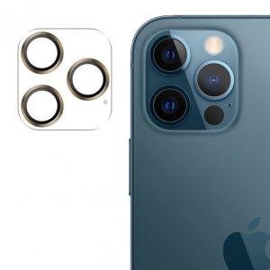Joyroom Shining Series szkło hartowane na cały aparat obiektyw kamerę do iPhone 12 Pro Max złoty (JR-PF689)