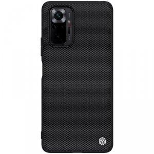 Nillkin Textured Case wytrzymałe wzmocnione etui z żelową ramką i nylonem na tyle Xiaomi Redmi Note 10 Pro czarny