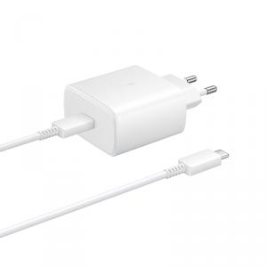 Samsung oryginalna ładowarka sieciowa Super Quick Charge 45W USB Typ C biały (EP-TA845XWEGWW)