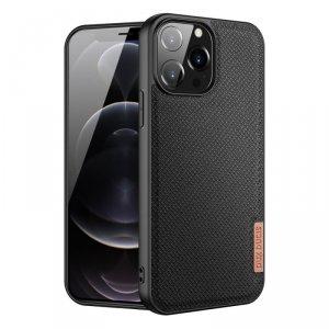 Dux Ducis Fino etui pokrowiec pokryty nylonowym materiałem iPhone 13 Pro Max czarny