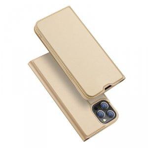 Dux Ducis Skin Pro kabura etui pokrowiec z klapką iPhone 13 Pro Max złoty
