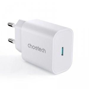 Choetech szybka ładowarka sieciowa USB Typ C 25W EU biała (PD6003-EU)