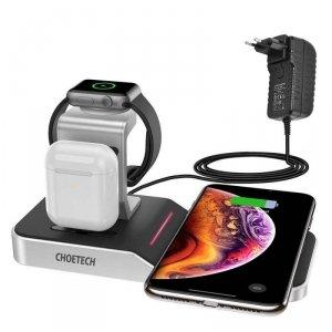 Choetech ładowarka bezprzewodowa Qi stacja ładująca do telefonu / Apple Watch / AirPods 10W czarny (T316)
