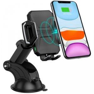 Choetech bezprzewodowa ładowarka Qi 10W uchwyt samochodowy z regulowanym ramieniem na deskę rozdzielczą + kabel USB - USB Typ C
