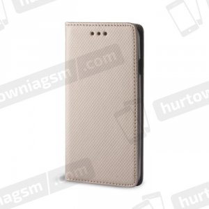 Etui Flip Magnet portfel  HUAWEI P8 LITE złoty