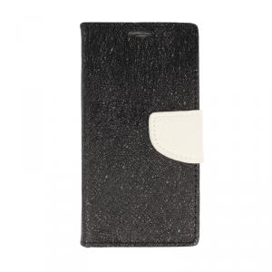 Etui portfel fancy HUAWEI HONOR 7X czarno-biały shine