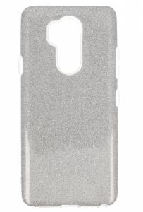 Etui Glitter LG G7 srebrne