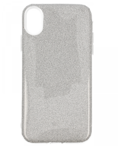 Etui Glitter IPHONE XS MAX srebrne