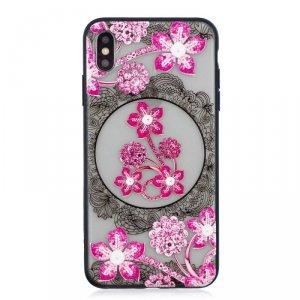 Etui Slim Art IPHONE XS MAX różowy kwiat