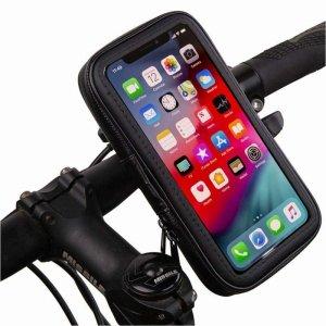 Uchwyt rowerowy wodoodporny wodoszczelny na telefon/nawigacje/gps obracany 360° do 6.5 cala (XL) czarny
